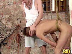 young male domination disciplines subordinated with raw cock