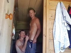 Siberian couple doing it in the sauna