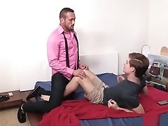Hot Muscle Stepdad Ties Up And Blindfolds Teen Stepson