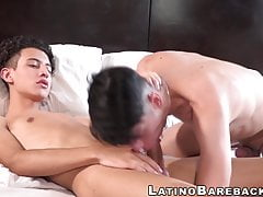 Latino dude shoves his dick inside his young school friend