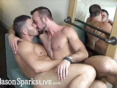 Straight first time jock gets monster cock breeding