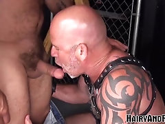 'HAIRYANDRAW Older Hairy Gay Raw Ass Drilled After Mutual BJ'