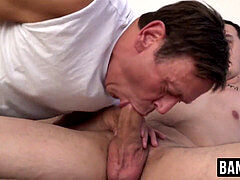Mature fag sucking cock before rough raw screwing by call girl