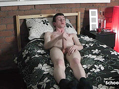 large chisel twink strips down and drains