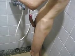 Skinny Boy Cums In Shower