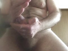 So hard, on the brink... handful of hot cum