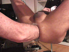 a luxurious plumb with 2 leathermen in chicago