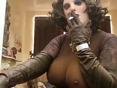Smoking sissy crossdresser bumpers cupcakes leather latex nylon